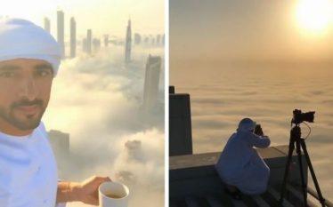 Princi i Dubai fotografon qytetin e tij sipër reve, rezultati…