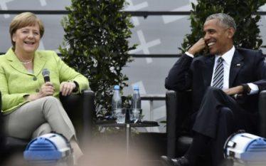 Obama lavdëron Merkelin