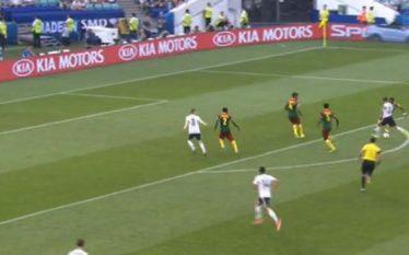 Çfarë gol i bukur në ndeshjen Gjermani – Kamerun (Video)