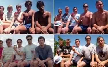 Shokët e klasës bëjnë foton e njëjtë për 35 vjet…