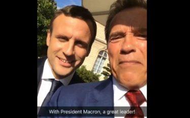Macron dhe Schwarzenegger bashkë kundër Trum