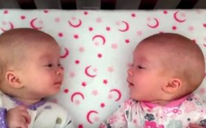 Binjaket identike shikojnë njëra tjetrën për herë të parë –…