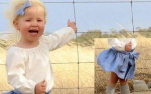 Po fotografonte vajzën e saj, papritmas vërejti se afër saj…