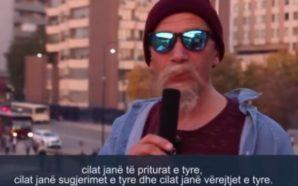 Selim Pacolli maskohet si gazetar për t'i intervistuar qytetarët, has…