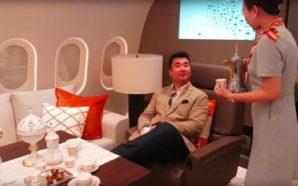 """""""Hoteli në qiell"""": Brenda aeroplanit privat më luksoz në botë"""