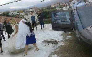 Dasma që po tërbon Tiranën, merr nusen me helikopter mbi…