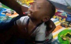 Poston fotografinë e të birit nëntë muajsh duke tymosur, rrezikon…