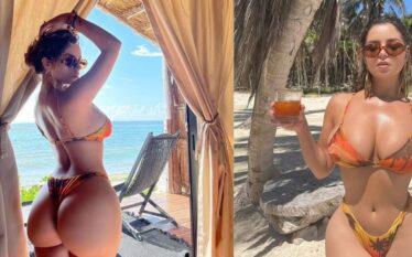 Demi Rose nxjerr në pah asetet joshëse nga pushimet